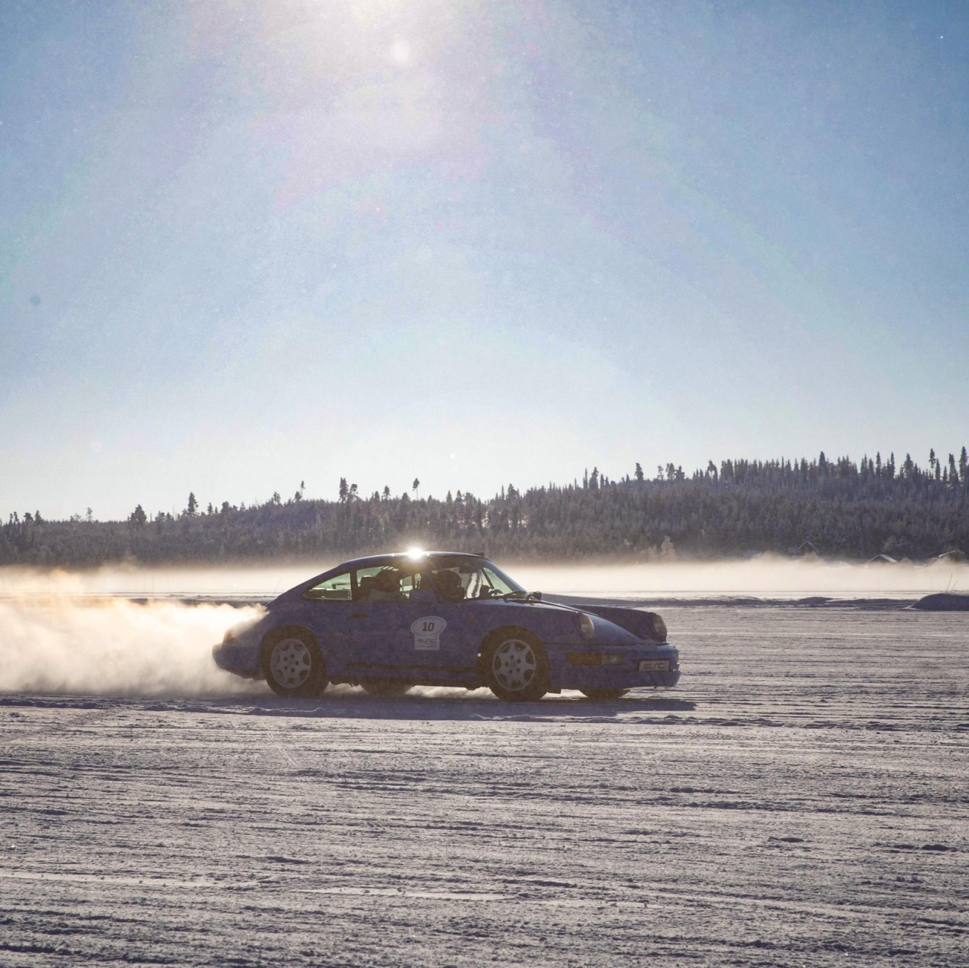 Kurze Belichtungszeiten bei Actionfotos, Winter, Fotos, Sonne, Porsche, zugefrorener See