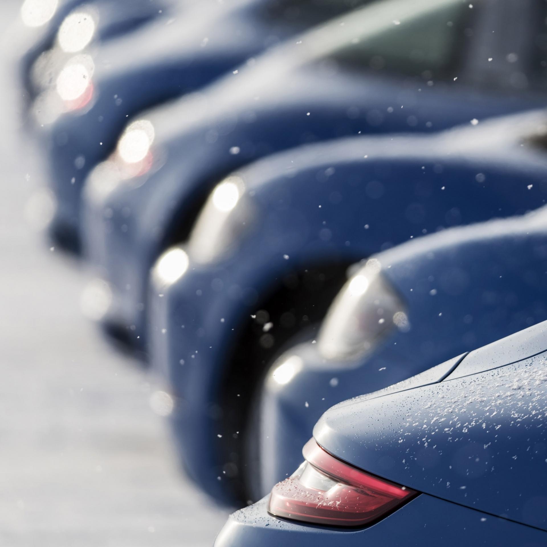 Teleobjektive sorgen für optische Tiefenkompression, Winter, Schnee
