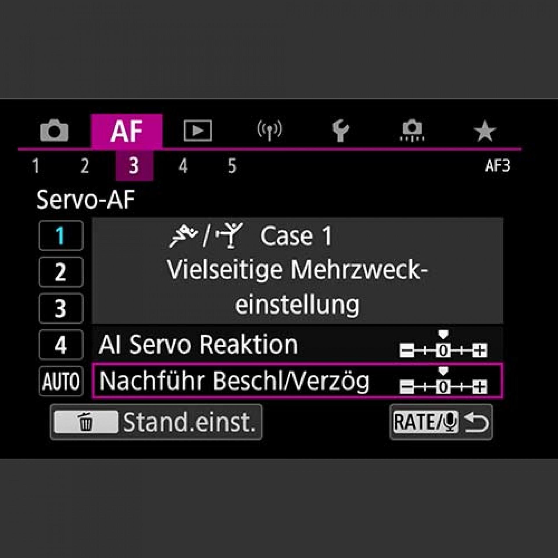 Autofokus, AF Cases und individuelle Konfiguration EOS R5, EOS R6